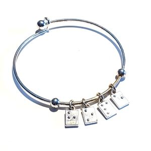 ASHLEY BRIDGET Love Braille Bangle Bracelet